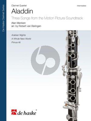Menken Aladdin 4 Clarinets Score-Parts (Three Songs from the Motion Picture Soundtrack) (arr. Robert van Beringen)
