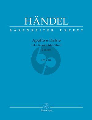 """Handel Apollo e Dafne (""""La terra è liberata"""") HWV 122 Klavierauszug (Hans-Joachim Marx)"""
