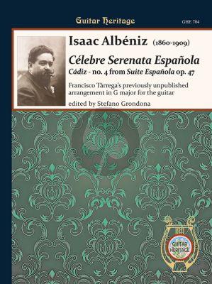 Albeniz Cádiz - Serenata Espanola Guitar (transcr. Francesco Tarrega) (No. 4 from Suite Espanola Op. 47) (edited by Stefano Grondona)