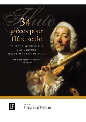 34 Pièces pour Flûte seule (Flute Solos from the 18th Century) (edited by Rien de Reede)