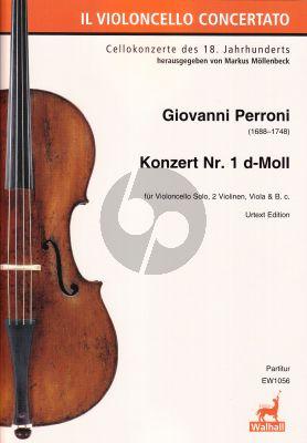 Perroni Konzert No. 1 d-Moll Violoncello-Streicher-Bc (Markus Möllenbeck) Score