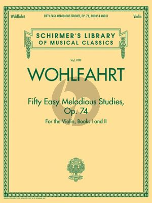 Wohlfahrt 50 Easy and Melodious Studies Op.74 Violin Complete Edition