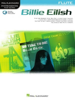 Billie Eilish Flute Instrumental Play-Along Pack (Book with Audio online)