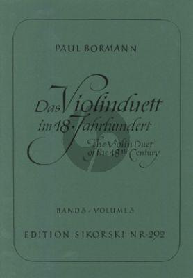 Das Violinduett im 18. Jahrhundert Vol.3