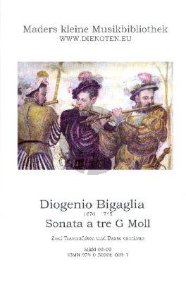 Bigaglia Sonate a Tre No.3 g-Moll 2 Traversfloten und Bc (Herausgegeben von Wolfgang Mader) (Partitur und Stimmen)