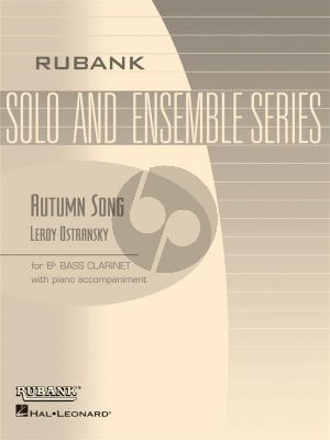 Ostransky Autumn Song Bass Clarinet and Piano