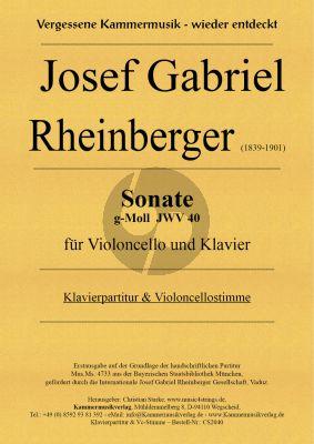 Rheinberger Sonate g-Moll JWV 40 Violoncello und Klavier (Christian Starke)