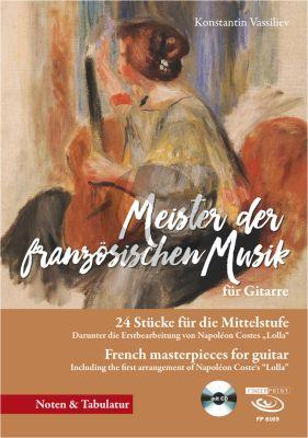 Album Meister der Französischen Musik fur Gitarre mit TAB (Buch mit Cd) (24 Stucke fur die Mittelstufe) (Herausgegeben von Konstantin Vassiliev)