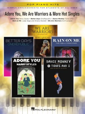 Adore You, We Are Warriors & More Hot Singles (Pop Piano Series)
