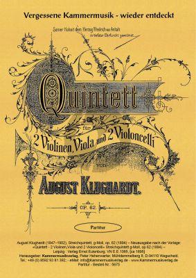 Klughardt Quintett G-dur Op. 62 2 Violinen, Viola und 2 Violoncelli (Partitur)