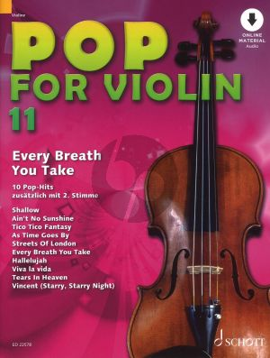 Pop for Violin Vol.11 Every Breath You Take (10 Pop Hits with a 2nd. Violin) (Book with Audio Online)