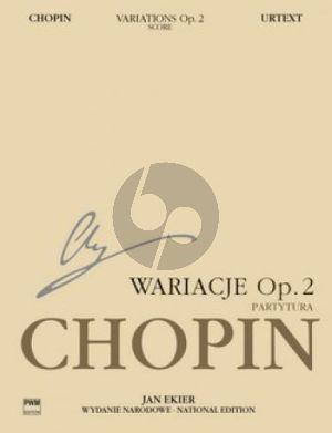 Chopin Variations on La Ci Darem La Mano Op.2 form Mozart's Don Giovanni for Piano and Orchestra Score (edited by Jan Ekier and Paweł Kamiński)