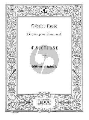 Faure Nocturne No. 4 Op. 36 Piano