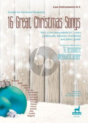 16 Great Christmas Songs 1 - 2 tiefe Instrumente in C (Dagmar Wilgo und Nico Oberbanscheidt)