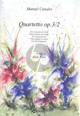 Canales String Quartet Op.3 No.2 Score and Parts
