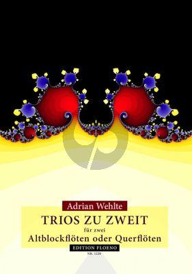 Wehlte Trios zu Zweit 2 Altblockfloten oder Querfloten (14 Trios zu zweit als Intonationstraining) (Spielpartitur)