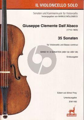 Dall'Abaco 35 Sonaten Band 4 (Sonaten 21-28) (ABV 32 - 33 - 34 - 35 - 36 - 37 - 38 - 39)) (Erstausgabe Ediert von Elinor Frey)
