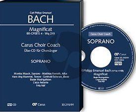 Bach Magnificat WQ 215 BR-CPEB E 4 Sopran Chorstimme CD (Carus Choir Coach)