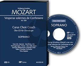 Mozart Vesperae Solennis de Confessore KV 339 Tenor Chorstimme CD (Carus Choir Coach)