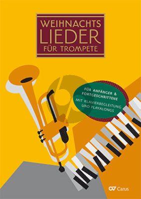 Weihnachtslieder für Trompete 1 - 3 Trompeten und Klavier (20 leichte Lieder zu Winter, Advent und Weihnachten) (Buch mit Audio online)