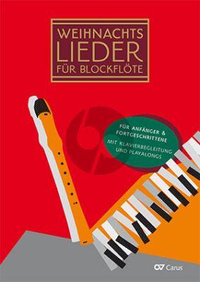 Weihnachtslieder für Blockflöte 1 - 3 Blockflöten und Klavier