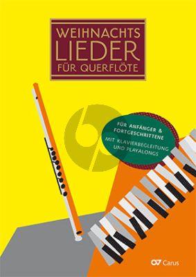 Weihnachtslieder für Querflöte 1 - 3 Flöten und Klavier (20 leichte Lieder zu Winter, Advent und Weihnachten) (Buch mit Audio online)