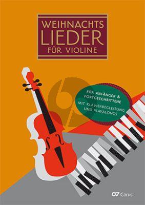 Weihnachtslieder für Violine 1 - 3 Violinen und Klavier