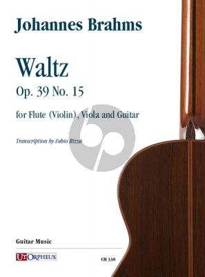 Brahms Waltz Op. 39 No. 15 for Flute (Violin), Viola and Guitar (Score/Parts) (transcr. by Fabio Rizza)