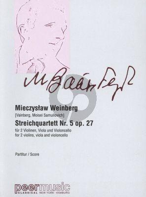 Weinberg Streichquartett No.5 Op.27 (1945) 2 Violinen, Viola und Violoncello Partitur