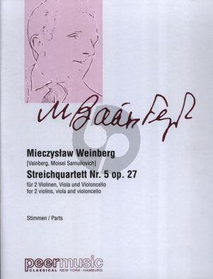 Weinberg Streichquartett No.5 Op.27 (1945) 2 Violinen, Viola und Violoncello Stimmen
