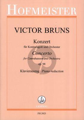 Bruns Konzert Op. 98 für Kontrafagott und Orchester (Klavierauszug)