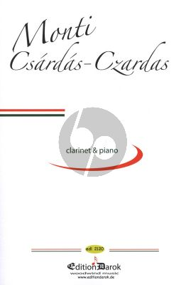 Monti Csardas for Clarinet and Piano (arr. Bela Kovacs)