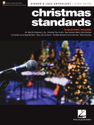 Christmas Standards - Singer's Jazz Anthology for High Voice