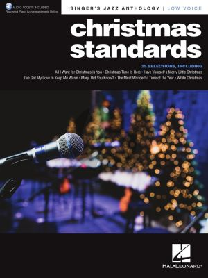 Christmas Standards - Singer's Jazz Anthology for Low Voice