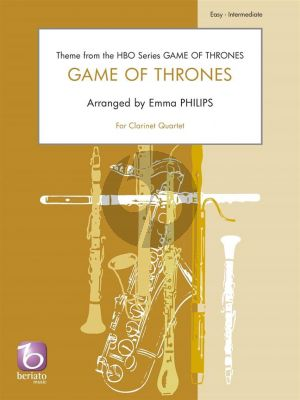 Djawadi Game of Thrones for 4 Clarinets (Score/Parts) (arr. Emma Philips)