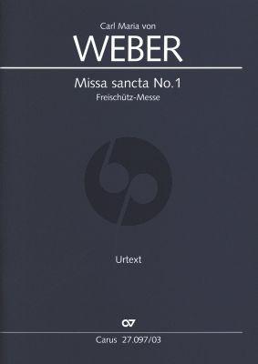 """Weber Messe sancta No.1 Es-dur """"Freischütz-Messe"""" WeV A.2 Soli - Chor und Orchester (Klavierauszug) (Karin Wollschläger)"""