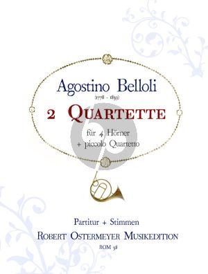 Belloli 3 Quartette für 4 Hörner Partitur und Stimmen