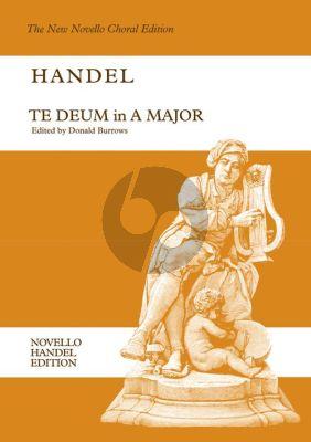 Handel Te Deum A-major HWV 282 ATB soli-SATB-Orchestra (Vocal Score) (Donald Burrows)