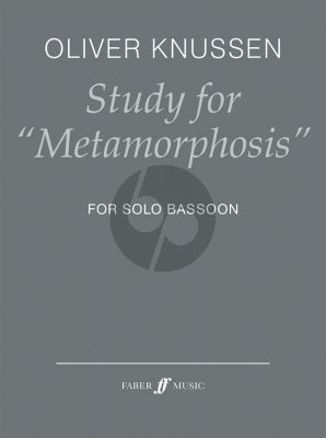 Knussen Study for Metamorphosis Bassoon solo