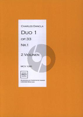 Dancla Duo op.33 no.1 für 2 Violinen