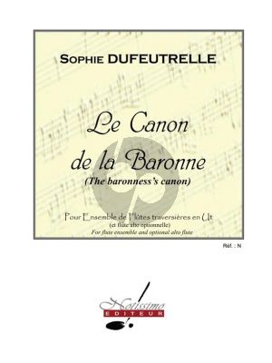 Dufeutrelle Canon De La Baronne for Flute Ensemble (C) (Score)