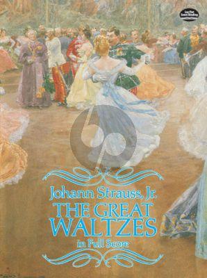 Strauss Great Waltzes Full Score (Dover)