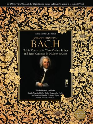 Bach Triple Concerto in C Major BWV 1064 3 Violins-Strings and Bc (Book with 2 Play-Along CD's) (MMO)