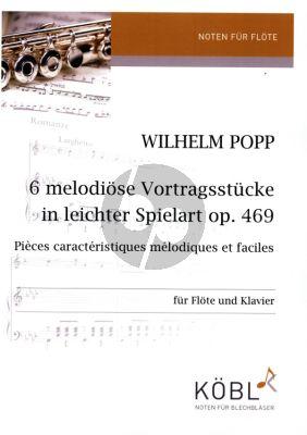 Popp 6 melodiöse Vortragsstücke Op. 469 Flöte und Klavier