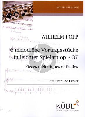 Popp 6 Vortragsstücke in leichter Spielart Op. 437 für Flöte und Klavier