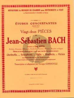 Bach Etudes Concertantes Clarinette (22 Pieces) (transcr. Georges Corroyez)