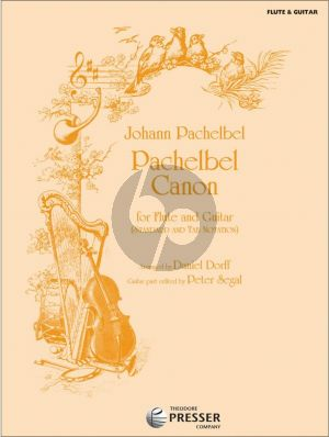 Pachelbel Canon for Flute and Guitar (Standard and TAB Notation) (Arranged by Daniel Dorff) (Guitar Part by Peter Segal)