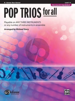 Pop Trios for All for Clarinet (or Bass Clarinet) (arr. Michael Story)