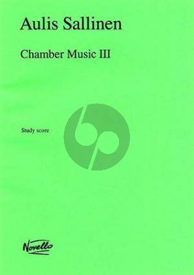 Sallinen Chamber Music III Op. 58 Violoncello and String Orchestra (Study Score)