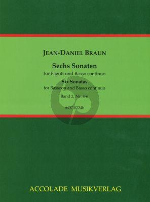 Braun 6 Sonatas Vol.2 Bassoon (or Violoncello) and Bc (Jean-Christophe Dassonville)
